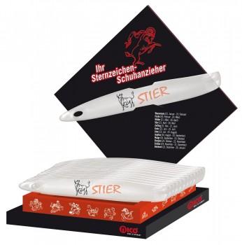 Der Schuhlöffel Schuhanzieher mit Ihrem Sternzeichen mit komfortabler Länge von 35 cm